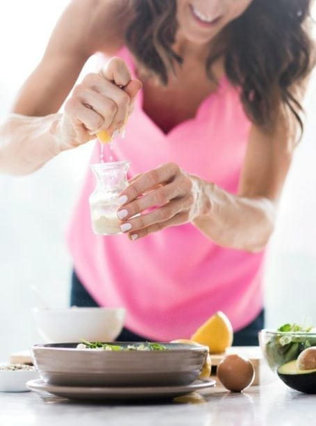 Gluten-Free Buckwheat Nourish Bowls with Tahini Lemon Dressing | a delish vegetarian, low sugar, make-ahead-safe lunch! | Eat Spin Run Repeat