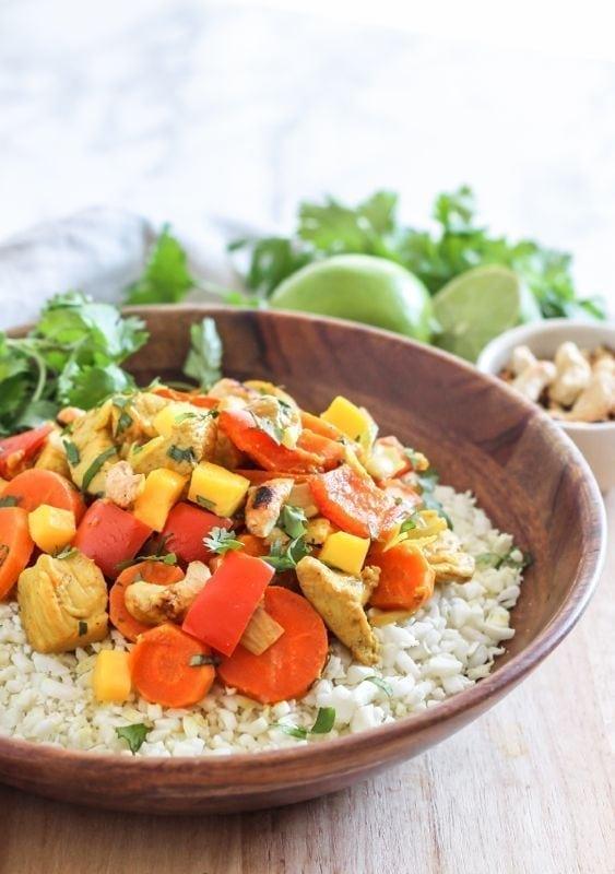 Mango Chicken Curry - gluten-free, paleo, anti-inflammatory    Eat Spin Run Repeat