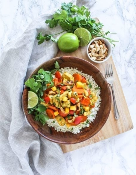 Mango Chicken Curry - gluten-free, paleo, anti-inflammatory || Eat Spin Run Repeat