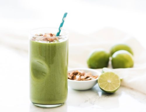 Low Sugar Key Lime Pie Green Smoothie