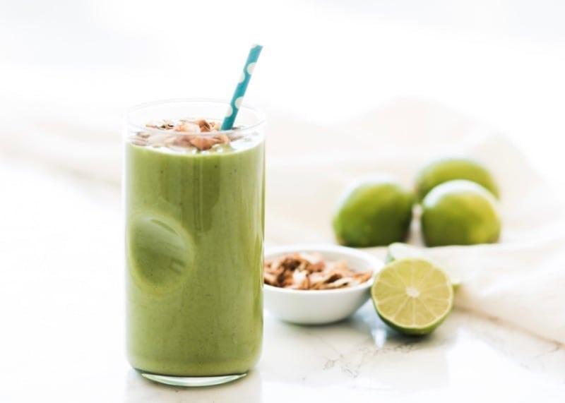 Low Sugar Key Lime Pie Green Smoothie