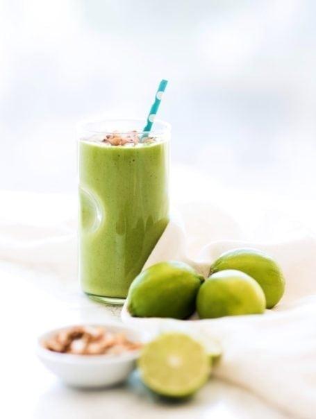 Low Sugar Key Lime Pie Green Smoothie || vegan, high protein, anti-inflammatory || Eat Spin Run Repeat