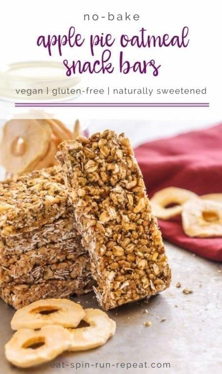 Easy No-Bake Apple Pie Oatmeal Snack Bars   vegan, gluten free    Eat Spin Run Repeat