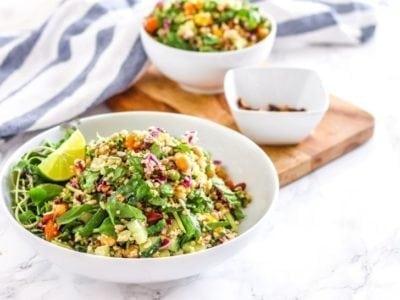 Quinoa Trailblazer Salad with Maple Tamari Roasted Almonds | vegan + gluten-free || Eat Spin Run Repeat