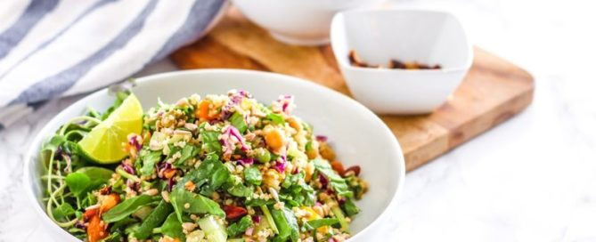 Quinoa Trailblazer Salad with Maple Tamari Roasted Almonds | vegan + gluten-free || Eat Spin Run Repeat