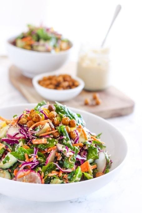 Rainbow Kale Slaw with Miso Tahini Dressing - Angela Simpson, My Fresh Perspective