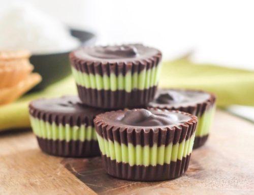 6-Ingredient Matcha Mint Dark Chocolate Cups
