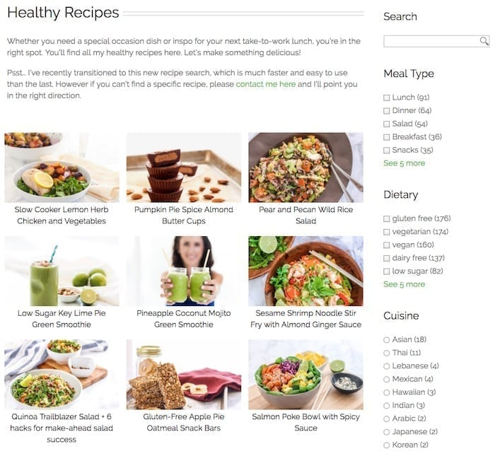Announcing a new and improved recipe search! || Eat Spin Run Repeat