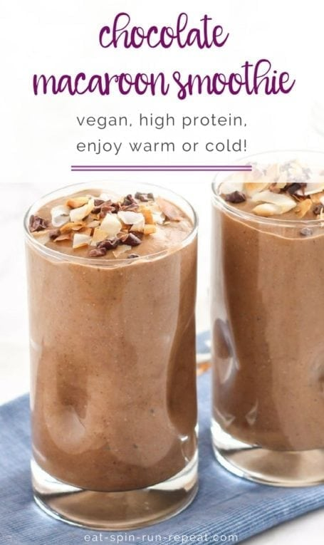 Chocolate Macaroon Smoothie || #vegan #glutenfree #eatclean || Eat Spin Run Repeat