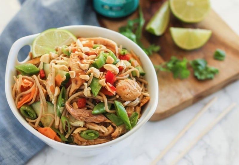 Thai Sweet Chilli Chicken Noodle Bowls