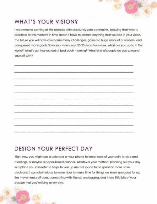 The Gorgeous Guide to Goal Conquering - Sample Page