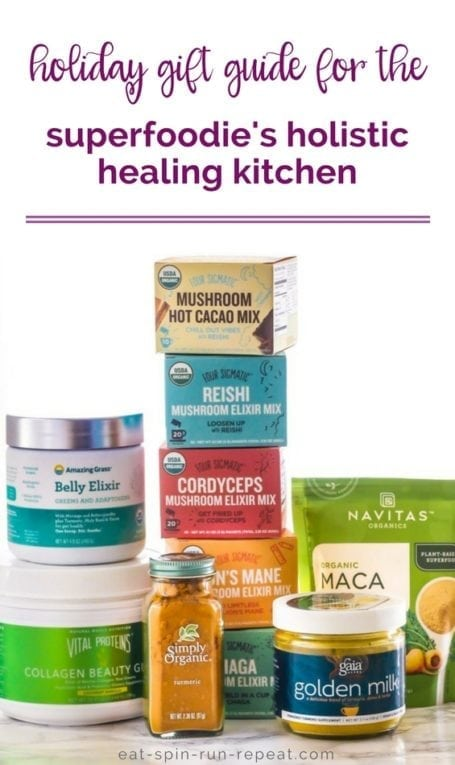 Gift Guide for the Superfoodie's Holistic Healing Kitchen || gifts for the culinary nutritionist and healthy foodies in your life || Eat Spin Run Repeat