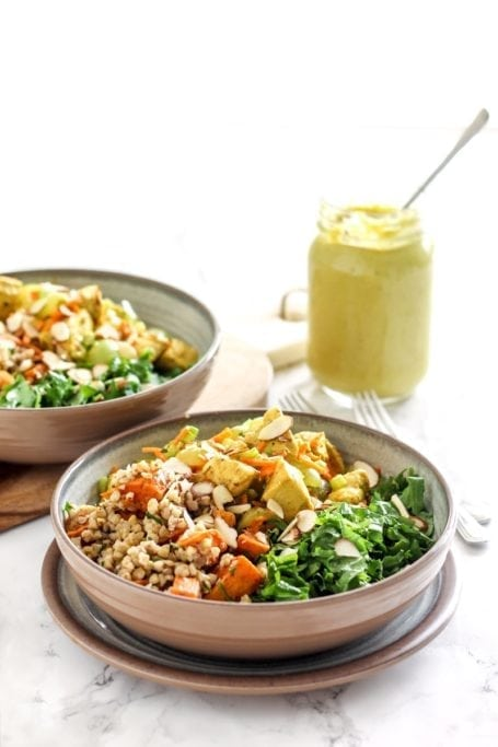 Roasted Chicken Salad with Curried Yogurt Dressing || #glutenfree #dairyfree || Eat Spin Run Repeat