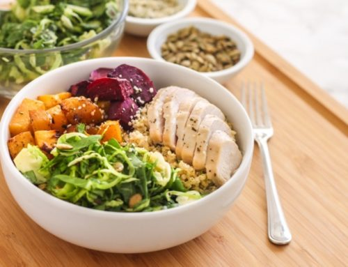 Roasted Root Vegetable + Quinoa Bowls with Balsamic Vinaigrette