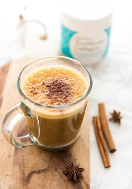 Dairy-Free Skin-Nourishing Collagen Pumpkin Spice Latte || Eat Spin Run Repeat