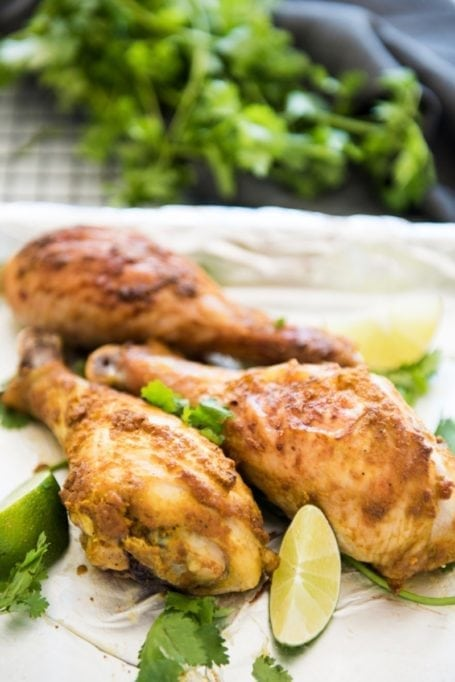 Healthy Baked Tandoori Chicken Drumsticks || #glutenfree #paleo || Eat Spin Run Repeat
