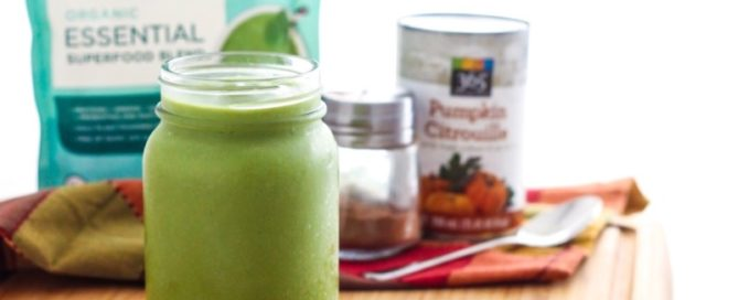 Vanilla Pumpkin Spice Green Smoothie || #vegan #glutenfree || Eat Spin Run Repeat