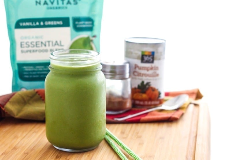 Vanilla Pumpkin Spice Green Smoothie