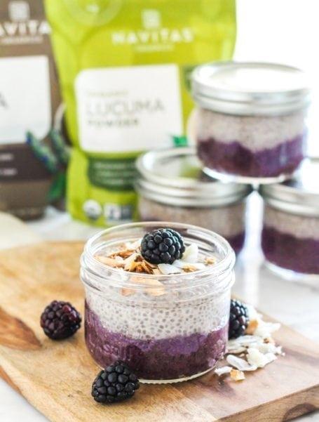 Low Sugar Blackberry Banana Coconut Chia Parfaits || #vegan #healthy #breakfast #dessert #paleo || Eat Spin Run Repeat