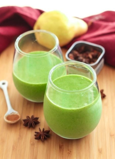 Cinnamon Ginger Pear Smoothie || #vegan #glutenfree #dairyfree || Eat Spin Run Repeat