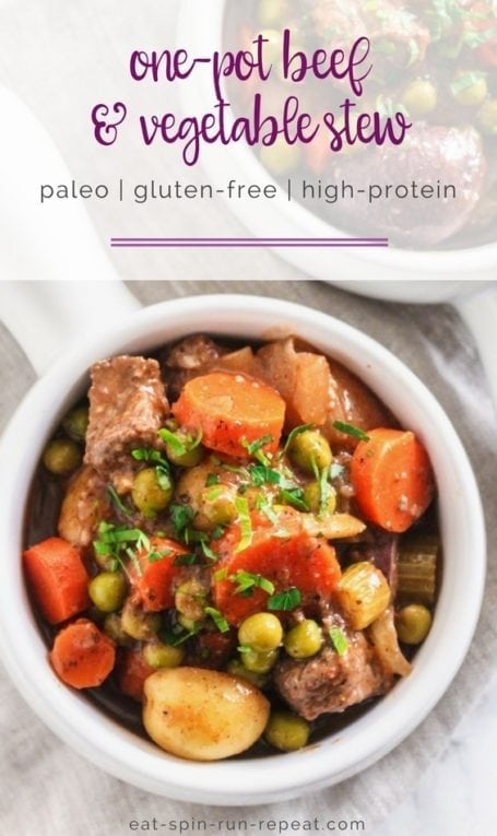 Paleo One-Pot Beef and Vegetable Stew || #glutenfree #cleaneating #paleo #mealprep || Eat Spin Run Repeat
