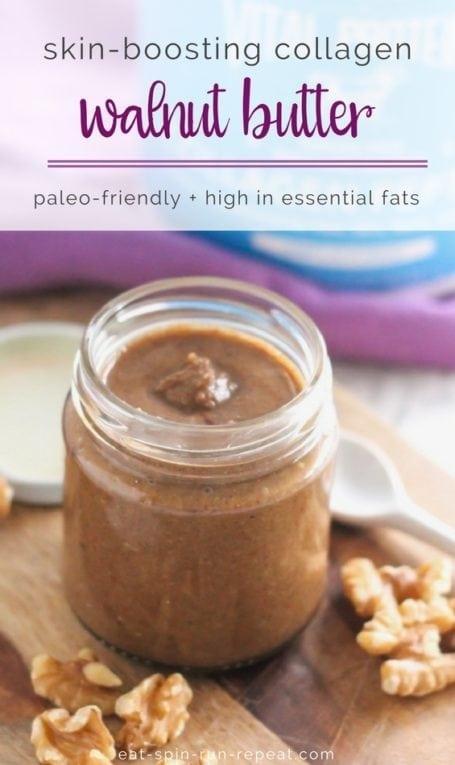 Skin Boosting Collagen Walnut Butter | #paleo #collagen #glutenfree | Eat Spin Run Repeat