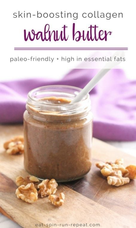 Skin Boosting Collagen Walnut Butter | #paleo #collagen #glutenfree | Eat Spin Run Repeat