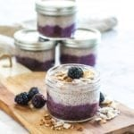 Low Sugar Blackberry Banana Coconut Chia Parfaits || #healthy #breakfast #dessert #paleo #collagen || Eat Spin Run Repeat