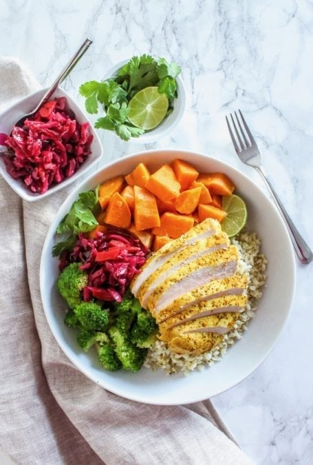 Easy Anti-Inflammatory Ginger Turmeric Chicken | one pan, 5 ingredients! | #antiinflammatory #paleo #mealprep | Eat Spin Run Repeat