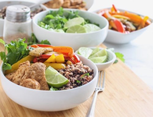 One-Skillet Chicken Fajita Bowls