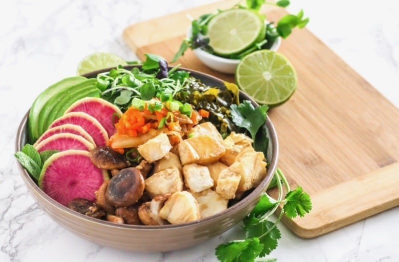 Miso Ginger Cod Power Bowls