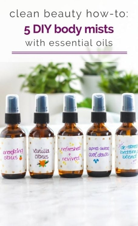 Clean beauty how-to: 5 DIY body mists with essential oils - Angela Simpson, My Fresh Perspective | #cleanbeauty #essentialoils #nontoxic