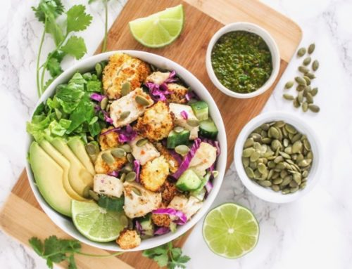 Fish Taco Bowls with Chimichurri Sauce