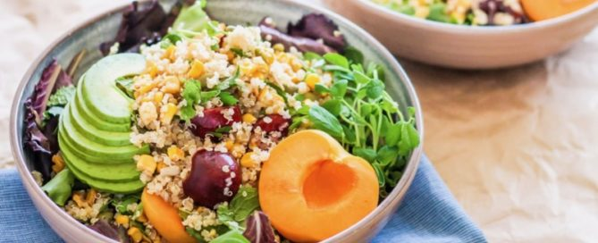 7 quinoa salads + tips for healthy summer barbecues | Angela Simpson, Eat Spin Run Repeat