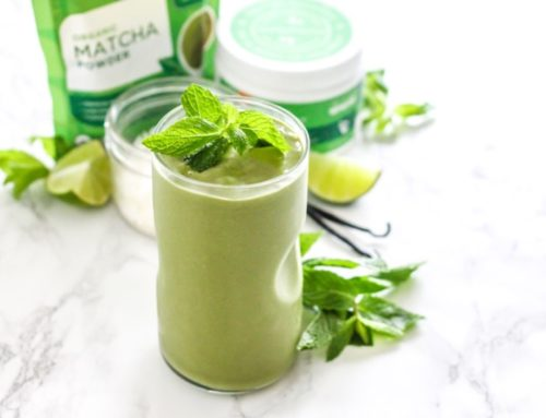 Low Sugar Coconut Matcha Mojito Smoothie