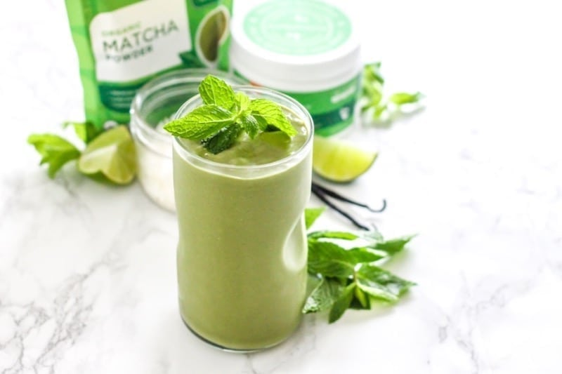 Low Sugar Coconut Matcha Mojito Smoothie | Angela Simpson, My Fresh Perspective | #vegan #antioxidants #matcha #sugardetox #sugarfree