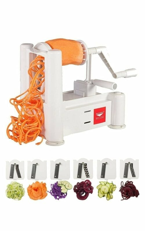 Paderno World Cuisine 6-Blade Vegetable Slicer/Spiralizer