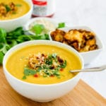 Anti-Inflammatory Creamy Curried Cauliflower Soup | vegan, paleo, dairy free and gluten free, this anti-inflammatory soup is a must-make! | My Fresh Perspective | #paleo #vegan #dairyfree #antiinflammatory #eatclean