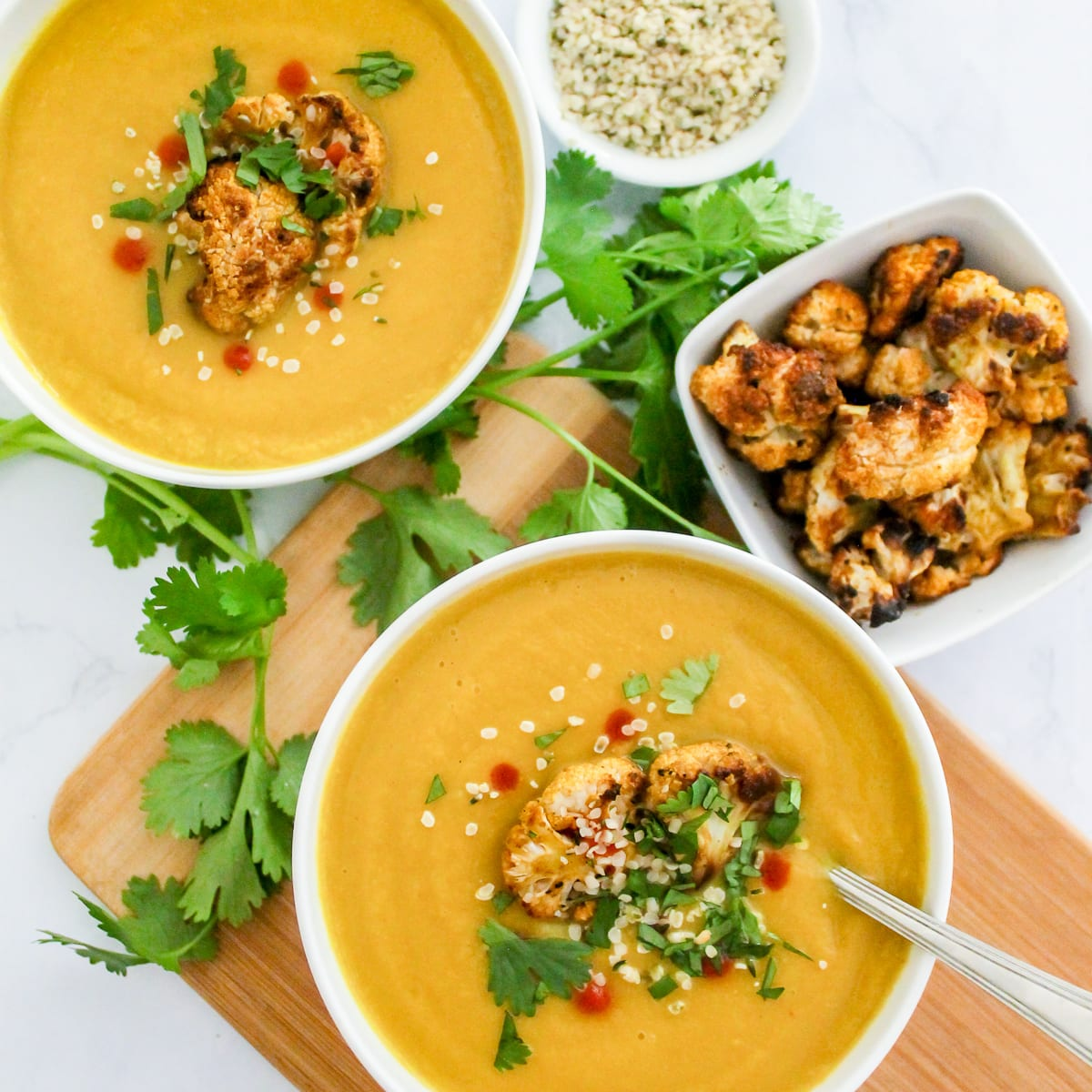 Anti-Inflammatory Creamy Curried Cauliflower Soup | vegan, paleo, dairy free and gluten free, this anti-inflammatory soup is a must-make! | My Fresh Perspective | #paleo #vegan #dairyfree #antiinflammatory #eatclean