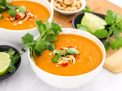 Thai Butternut Squash Soup - My Fresh Perspective | This easy, quick and healthy soup is paleo, vegan, and Whole30-approved! | #paleo #whole30 #vegan #eatclean #glutenfree