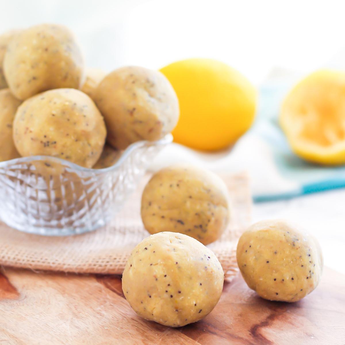 Coconut Lemon Poppyseed Protein Bites | Easy No-Bake Protein Bites, 5 Ways with vegan and paleo variations! | My Fresh Perspective | #glutenfree #dairyfree #vegan #vegetarian #paleo