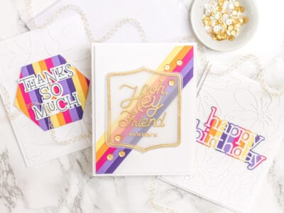 Bright Striped Cards, 3 Ways - My Fresh Perspective