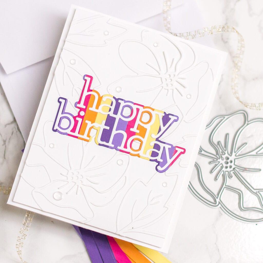Bright Striped Cards, 3 Ways - Floral Happy Birthday