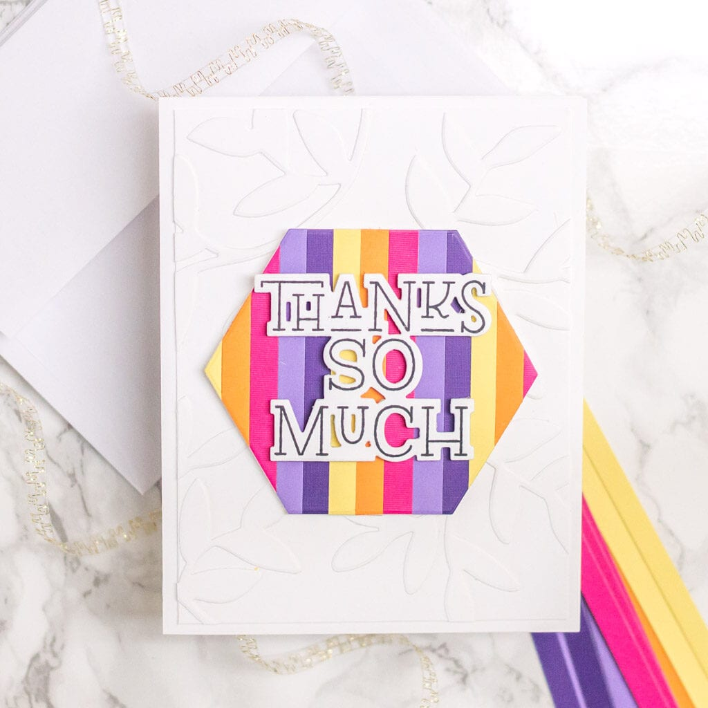 Bright Striped Cards, 3 Ways - Thanks So Much