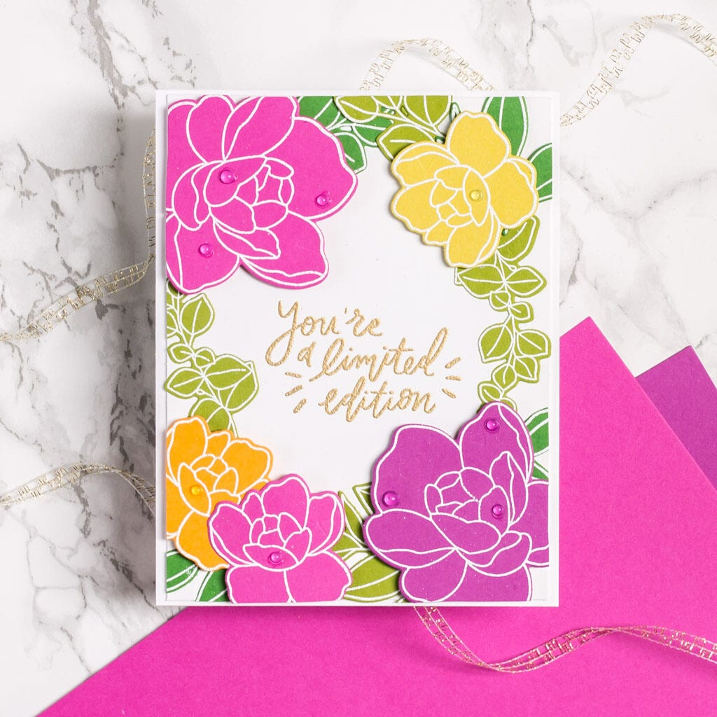 Fresh Cut Floral Cards, 2 Ways - The Stamp Market - My Fresh Perspective