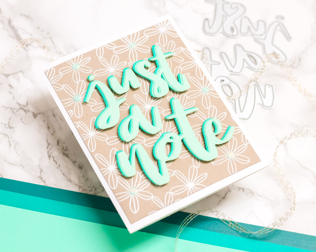Just a Note - Stacked Jumbo Die Cut Card - My Fresh Perspective