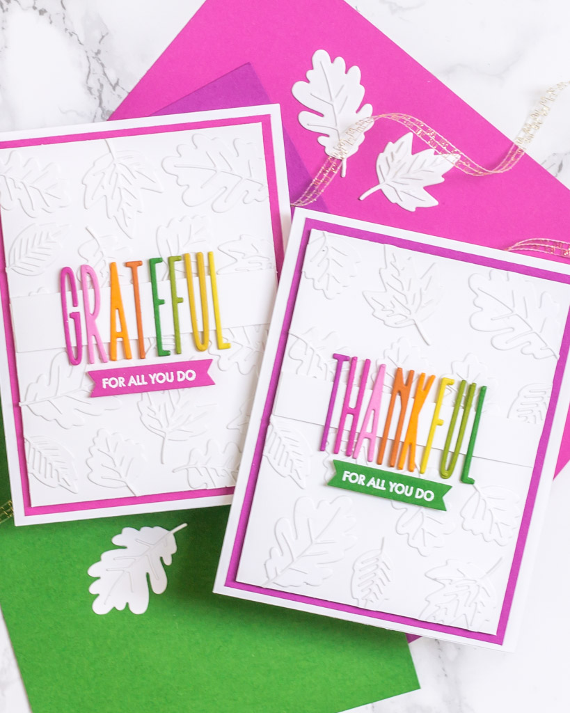 Mini Autumn Leaves - Card 1 - The Stamp Market - My Fresh Perspective