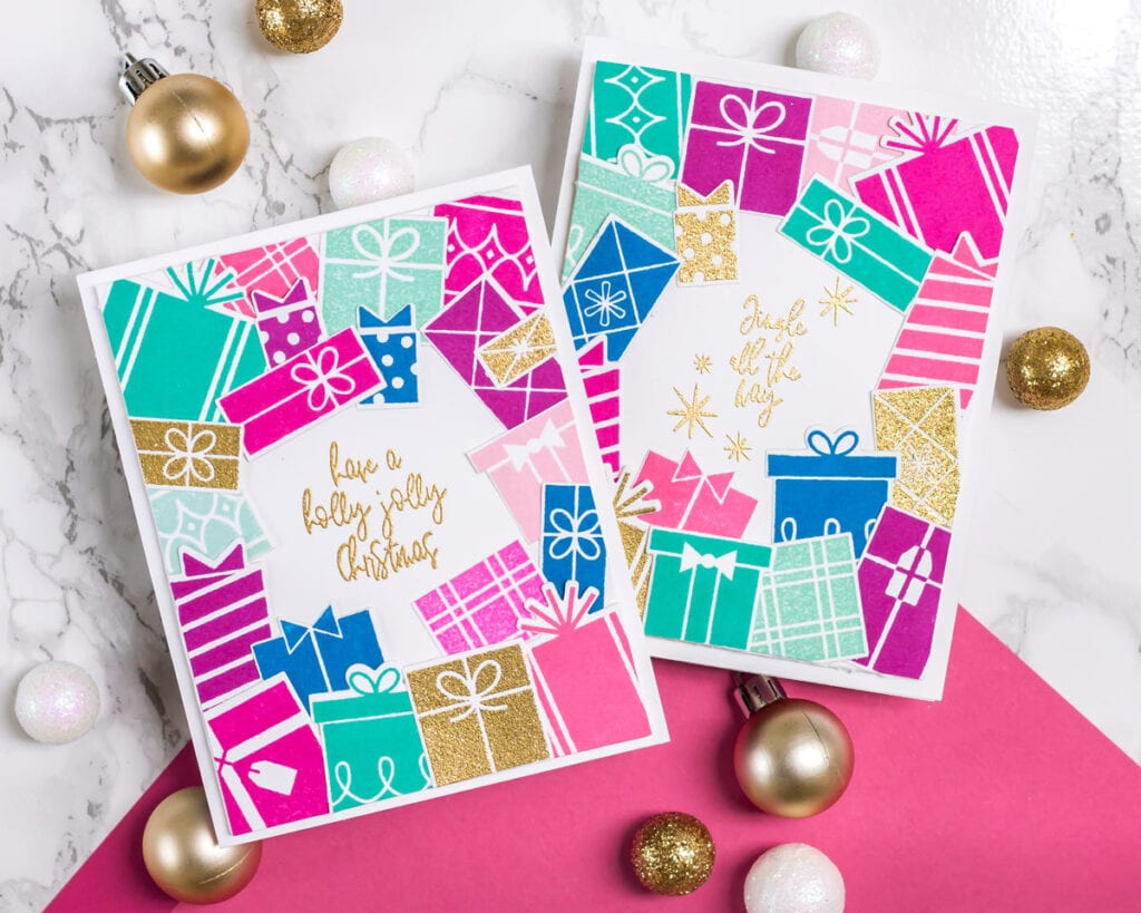 Gift Boxes and Gold Sparkles - featuring Pinkfresh Studio