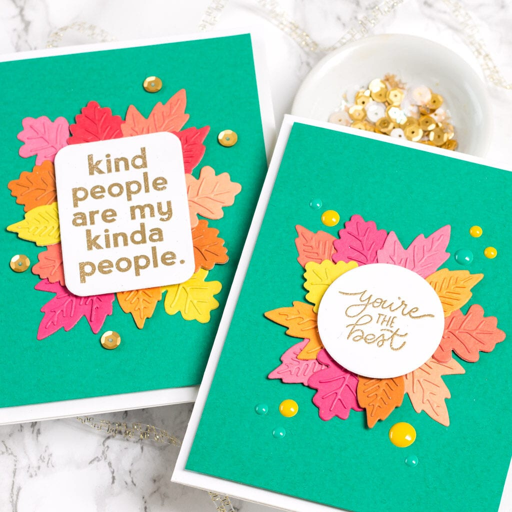 Kindness Cards + More Mini Leaves - The Stamp Market - My Fresh Perspective