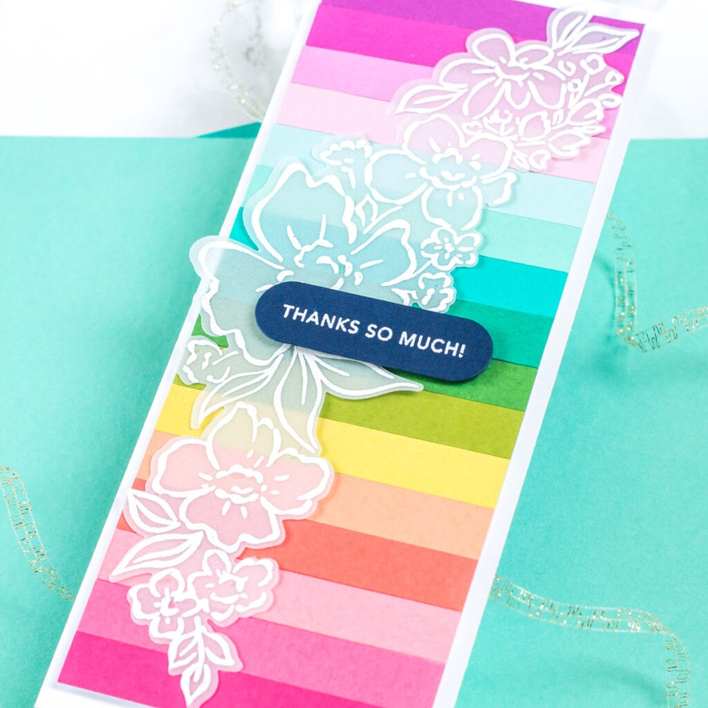 Pinkfresh Studio Floral Notes Slimline Cards